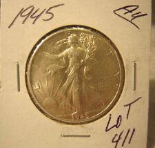 1945 Walking Liberty Half Dollar-Circulated-Ungraded-Uncertified Lot 411