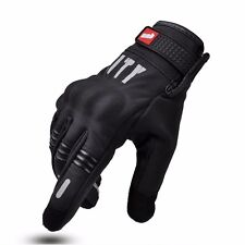 Summer Motorcycle Riding Gloves Touch Screen Stealth Armor Reflective Black Tech
