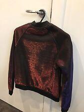 Mossman Red Colour Changing Purple Metallic Like Bomber Jacket General Pants