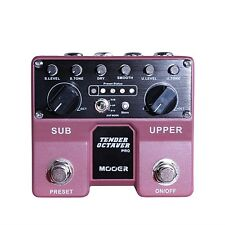 Mooer Tender Octaver Pro Octave Guitar Effects Pedal +Picks