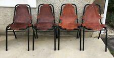 lot 6 chaises cuir leather chair tubular design 60/80?