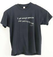 Vintage 90s Exercise Shoebox Hallmark Black T Shirt Single Stitch Mens Sz XL