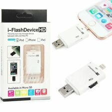 i Flash Drive Adapter USB Micro SD TF Card Reader For iPhone 6 Plus 7/iPad/PC