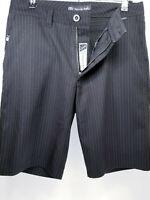 Travis Mathew Mens Size 30 Shorts Golf Black White Pinstripe