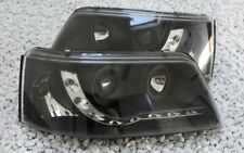 verre transparent Jeu de phares pour VW T5 LED Lumière de circulation Diurne CFF