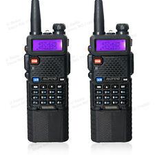 2 x BAOFENG UV-5R UHF/VHF Walkie Talkie Radio Transceiver +3800mah HIGH Battery