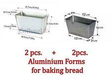Set lot of 2 pcs + 2pcs forms +1 solod for baking bread New Bread Aluminium Mold