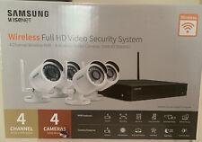 Nib Samsung Wisenet 4 Channel 1080p Full Hd Nvr Video Security System
