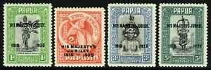 SG 150-153 PAPUA 1935 SILVER JUBLIEE SET - MOUNTED MINT