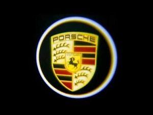 4x PORSCHE Wireless Car Door Welcome Laser Projector Shadow LED Light Emblem