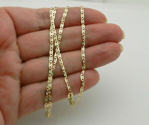 """14k Tri Color Gold Solid 2mm Valentino Star Chain Necklace 18"""" long"""
