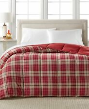 Home Design FULL/QUEEN Comforter Down Alternative Plaid RED E01001