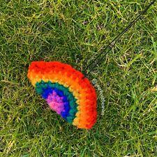 Gearknobbeanie Rainbow Mirror Hanger Nhs crochet knitted car accessories Beanies