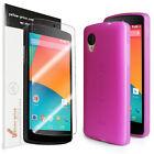 LG Google Nexus 5 [Pink] Ultra Fit Flexible TPU Case / Clear Screen Protector