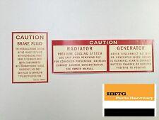 NEW Caution Decal Sticker Kit for Holden HK HT HG GTS Monaro Premier Brougham