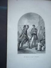 GRAVURE 1880 M. DEBRENN AU BAGNE DE ROCHEFORT CONDAMNE POLITIQUE