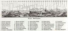ALPI RETICHE 2:DA BRESCIA A MANTOVA.ALPI:TUTTE LE MONTAGNE.9. Stampa Antica.1890