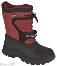 Trespass Kukun Childrens Winter Snow BOOTS Red UK 3 (eu 35/36)