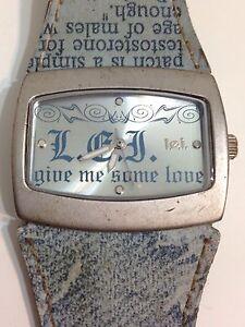 LEI Ladies Designer Silver Tone Good Condition Working Quartz Watch