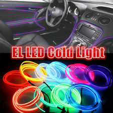 Flexible LED Shiny Neon Glow EL Wire Rope Controller Party Home Atmosphere Light