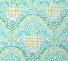 Little Azalea BTY Dena Designs FreeSpirit Hyacinth Floral Damask Aqua Blue