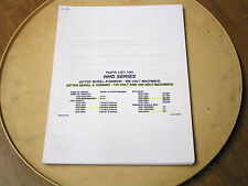 MI-T-M ELECTRIC HOT WATER PRESSURE WASHER PARTS MANUAL - MODEL#HHD SERIES LISTED
