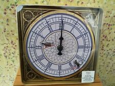 NEW M&S WORKING CLOCK GOLD BISCUIT TIN + BUTTER SHORTBREAD BISCUITS - 🎄PRESENT