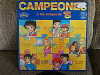 "Campeones Oliver Benji Serie TV LP 12"" VINILO Spain Ed First Press 1990 G+/VG"