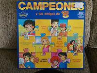"""Campeones Oliver Benji Serie TV LP 12"""" VINILO Spain Ed First Press 1990 G+/VG"""