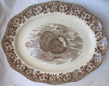 HUGE VINTAGE WEDGWOOD HOLIDAY TURKEY PLATTER