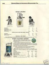 1924 PAPER AD Dazey Butter Churn Glass Jar Hand Power Crank 4 6 8 Pints COLOR