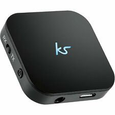 KitSound Bluetooth Music Adapter Converter Headphones Speaker TV - Black