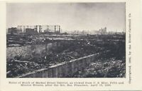 SAN FRANCISCO CA – South of Market Street District Ruins After 1906 Fire – udb