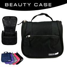 Beauty Case da Viaggio e da Bagno, con Gancio per Appenderlo, Unisex (Nero)