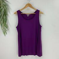 J.Jill Womens Sleeveless Scoop Neck Tank Top Size M Sugar Plum Purple Shirt Knit