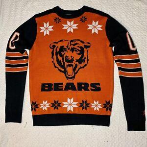 Chicago Bears Blue & Orange NFL Holiday Ugly Christmas Sweater Medium NEW (NWOT)
