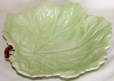 "Vintage Handpainted Large Leaf Bowl ""Australian"" - Carlton Ware"
