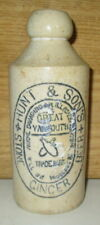 RARE ANTIQUE HUNT & SONS STONEWARE GINGER BEER BOTTLE