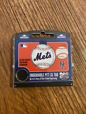 New York Mets Pet Dog Personalized Circle ID Tag