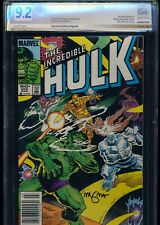 Incredible Hulk #305! Signed Mignola PGX 9.2 (Like CGC) Newsstand! Marvel 1985!