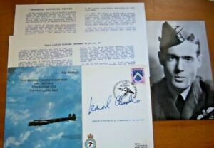 RAF B25c GROUP CAPTAIN LEONARD CHESHIRE SIGNED BOMBER COMMAND COVER