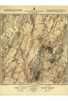 Gettysburg Battlefield 2nd Day, 1863; HIstoric Map; Army Engineers 1876; 2 of 3