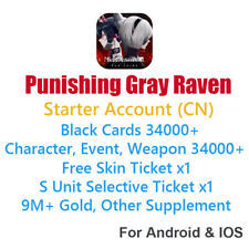 [CN] Punishing Gray Raven 34000+ Black Cards & Tickets Starter Account