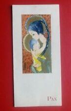 tarjeta felicitacion navidad VIRGEN CON NIÑO años 60 holy card chritsmas