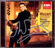 Maxim VENGEROV Signiert MOZART Violin Concerto 2 4 Sinfonia Concertante CD Power