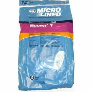 Hoover Vacuum Bags Type Y for Wind tunnel Upright Microlined Bags - Pack of 10