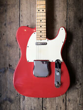 1974 FENDER TELECASTER REFIN IN RED MAPLE NECK WITH HARDSHELL CASE