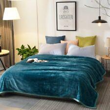 Solid Color Coral Fleece Blanket Home Sofa Bed Fluff Office Decoration Blanket