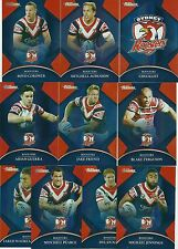 2016 NRL Traders Parallel SYDNEY ROOSTERS Team Set