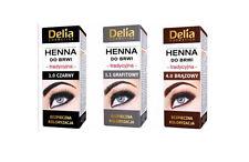 Delia Henna Tradicional Para Cejas Tinte Marrón / Negro / LAS 3 Compra 1 Gratis